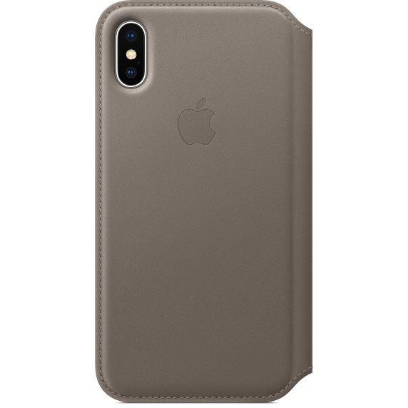 Apple Leather Folio pro iPhone X, taupe