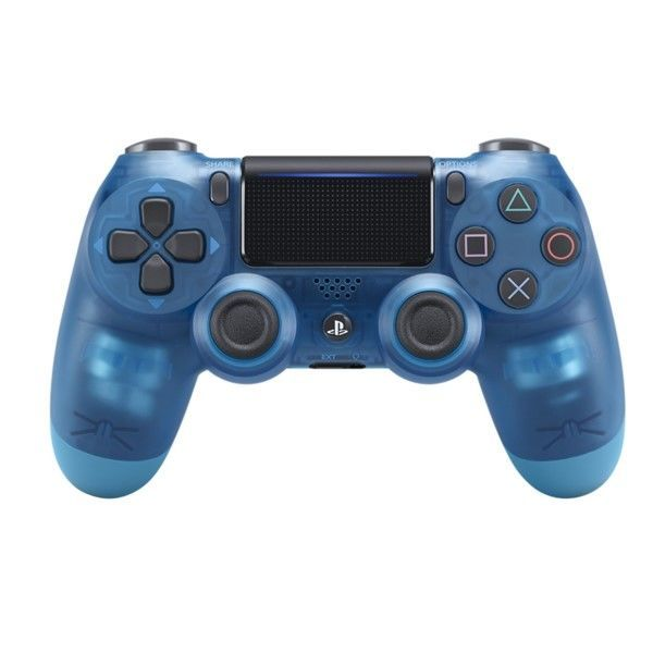 Sony PS4 DualShock 4 v2, průhledný modrý