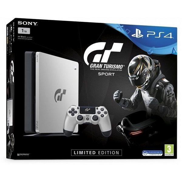 PlayStation 4 Slim, 1TB, Gran Turismo Sport Limited Edition + dárek Uncharted: The Nathan Drake Collection - hra na PS4 zdarma