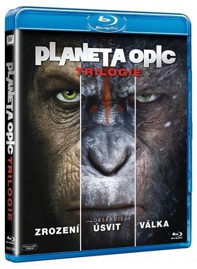 Trilogie: Planeta opic - 3xBlu-ray