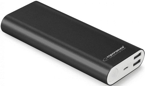 Esperanza EMP113K powerbanka 10 000 mAh, černá
