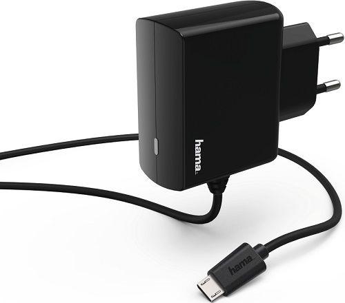 Hama Micro USB síťová nabíječka 2,4A, černá