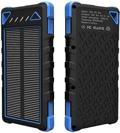 Viking solární outdoorová powerbank SPT-80 8000 mAh, modrá