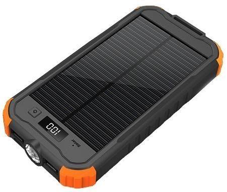 Viking Charlie II solární outdoorová powerbank 12000 mAh, černá