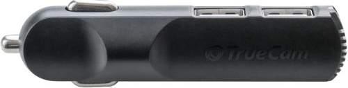 TrueCam duální nabíječka do auta, černá