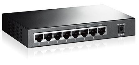 TP-LINK - TP-LINK TL-SF1008P 8-port Switch