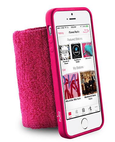 Puro sportovní náramek pro Apple iPhone 5, 5S, 5SE (růžový)