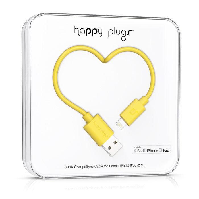 Happy Plugs 9905 - Lightning kabel (žlutý)