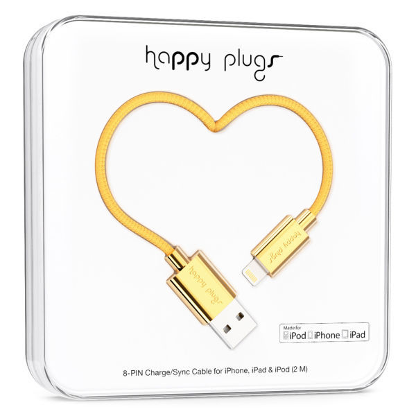 Happy Plugs 9910 - Lightning kabel (zlatý)
