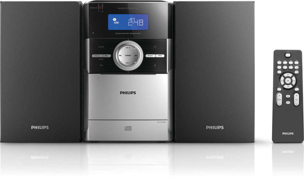 Philips MC151 (stříbrno-černý)