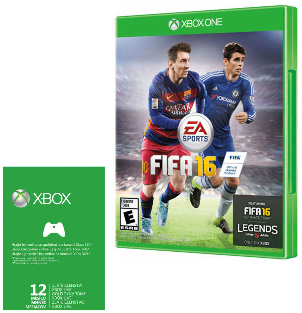 Xbox One Live Gold 12M + FIFA 16 Bundle