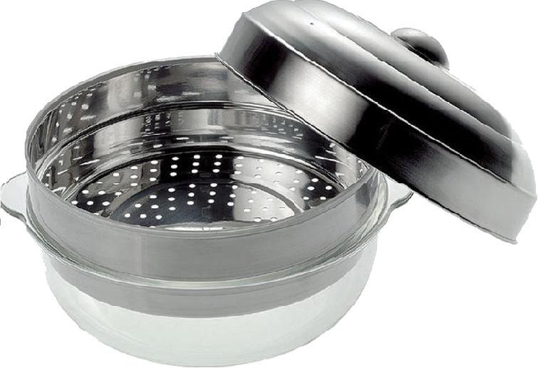 BOSCH HEZ86D000, SteamDish - nerez. Hrnec pro vaření v páře v mikrov. Troubě