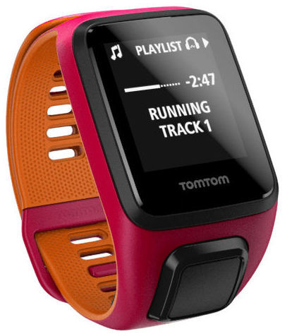 TomTom Runner 3 S Cardio+Music (růžovo-oranžové)