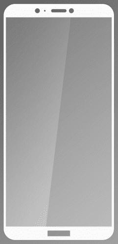 Q sklo tvrzené sklo pro Huawei P Smart, bílé