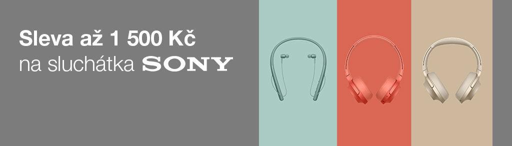 Sleva až 1 500 Kč na sluchátka Sony