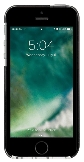 Xqisit Mitico Bumper TPU pouzdro pro iPhone SE/5S/5, černé