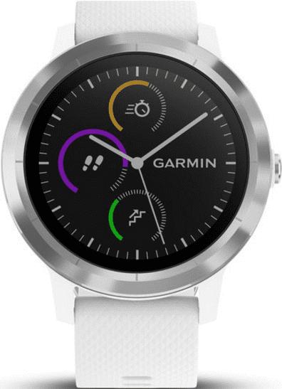 Garmin vívoActive3, stříbrno-bílá