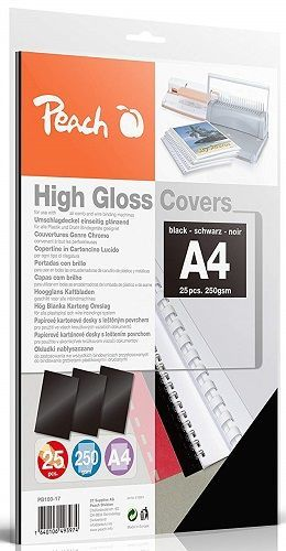 Peach PB100-17 A4 25 ks černé vázací desky