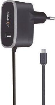 Aligator USB nabíječka + Micro USB kabel, černá