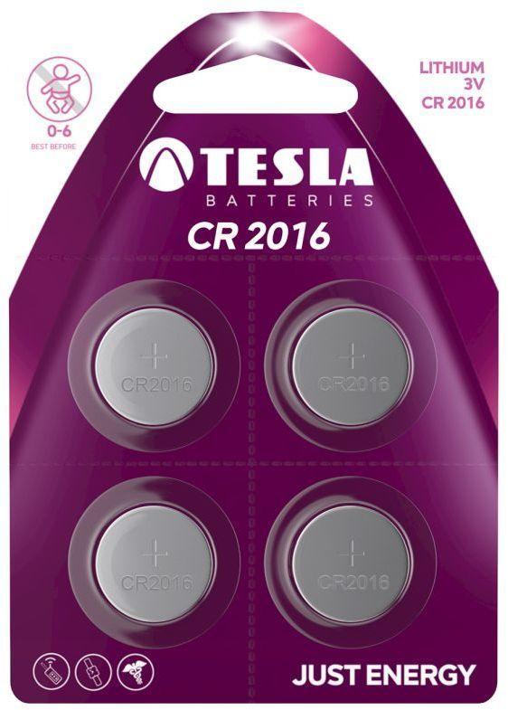 TESLA CR2016 4ks, lithiová baterie