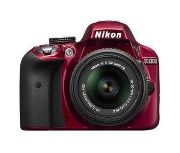Nikon D3300 (červený)+18-55 AF-S DX VR II