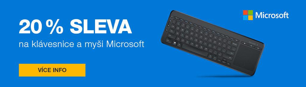 20 % sleva na myši a klávesnice Microsoft