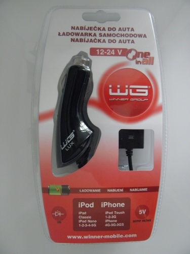 WINNER autonabíječka v blistru WG LUX Apple (černá)