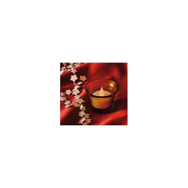 Somogyi CDG 1 OR LED čajová svíčka v barevném skleněném držáku (oranžová)