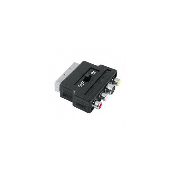 Hama 122238 Redukce SCART vidlice - 3 cinch AV + S-video zásuvka