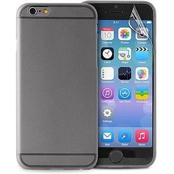 Puro černý zadní kryt pro iPhone 6 + fólie na displej