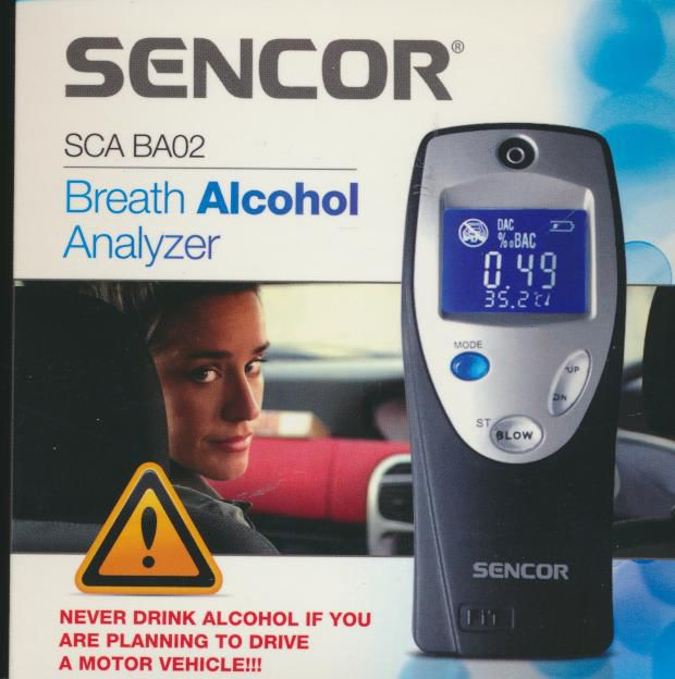 SENCOR SCABA02, alkoholtester