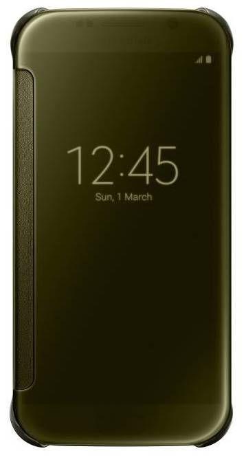 SAMSUNG Clear View pouzdro EF-ZG920BF pro Galaxy S6 (zlaté)