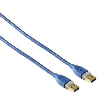 Hama 39676, USB 3.0 propojovací kabel, A plug - A plug, 1,80 m (modrý)