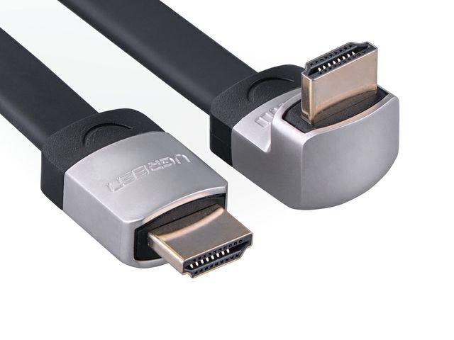 Ugreen 10284 - HDMI plochý + zahnutý konektor (dolu) 3M