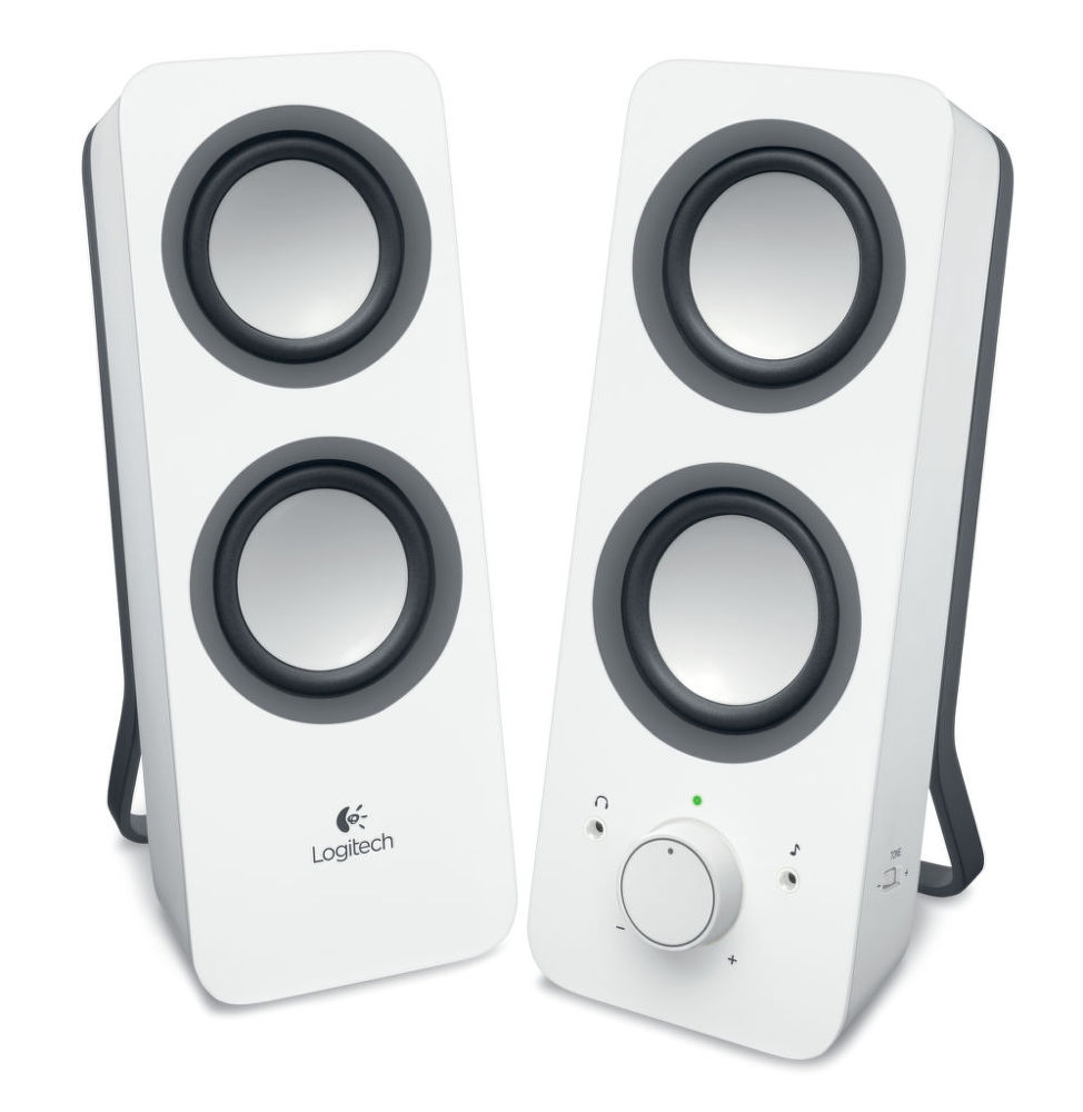 LOGITECH Z200 Speakers, Snow White