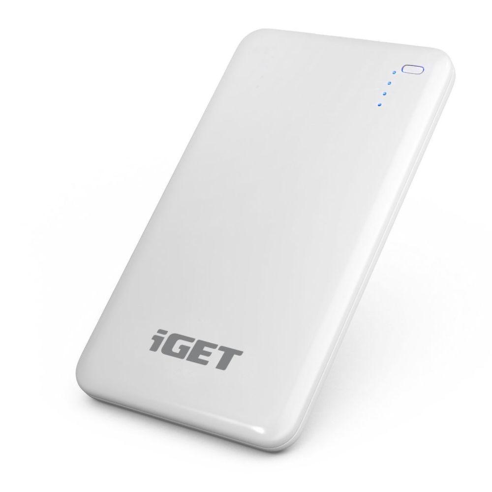 iGet B-8000 powerbanka 8000mAh (bílá)