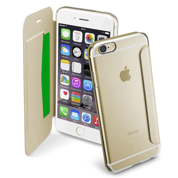 CellularLine Clear Book pouzdro pro Apple iPhone 6 (zlaté)
