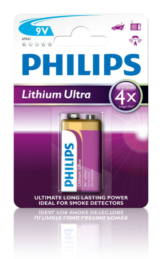 Philips Lithium Ultra 9V (6FR61), 1ks