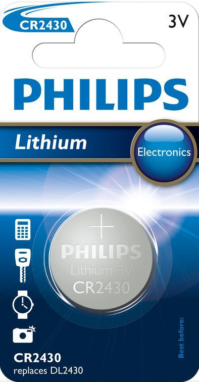 Philips Lithium CR2430, 1ks