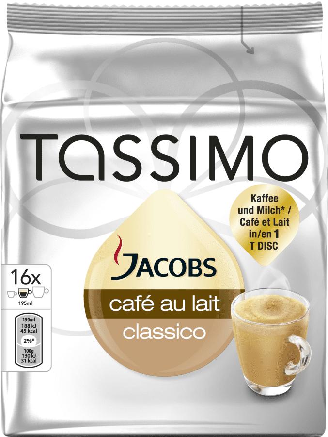 Tassimo Jacobs Café au Lait T-disc (16kg)