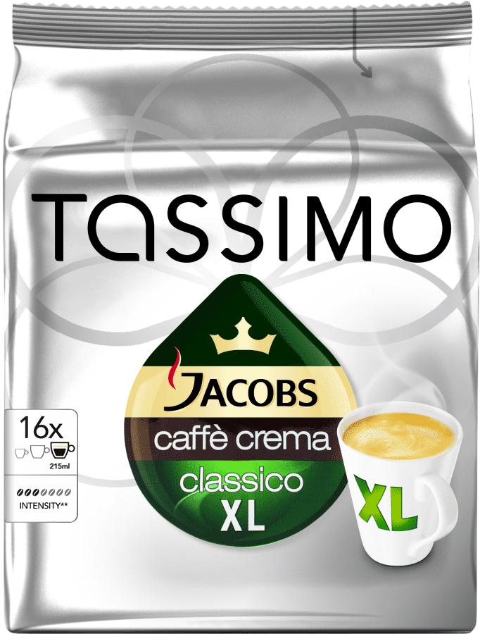 TASSIMO Jacobs Café Crema XL - kapslová káva (16ks)