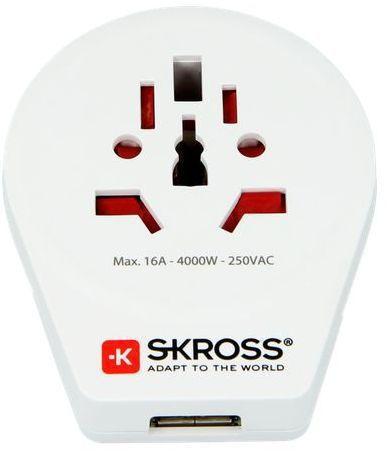 Skross PA30USB - Cestovní adaptér Europe