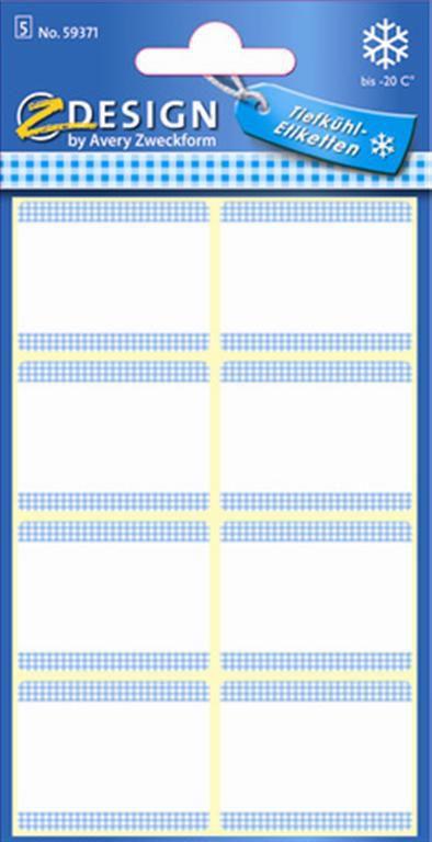 Avery Samolepicí etikety do mrazáku (bílé)