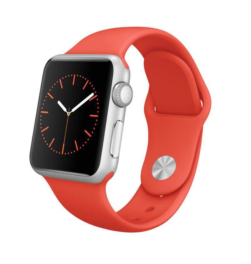 Apple Watch Sport 38mm MLCF2HC/A (stříbrný hliník s oranžovým řemínkem)