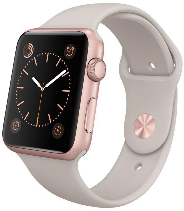 Apple Watch Sport 42mm MLC62HC/A (růžově zlatý hliník s kamenně šedým řemínkem)