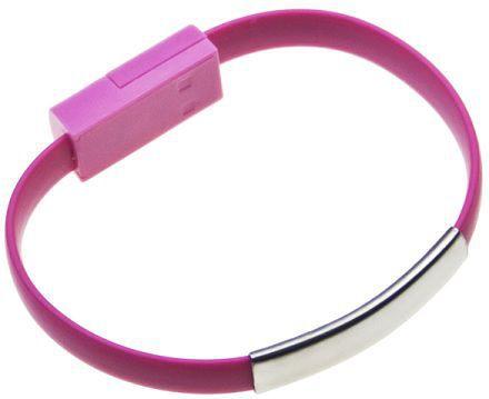 Aligator Bracelet nabíjecí kabel pro Apple iPhone 5/6 (růžový)
