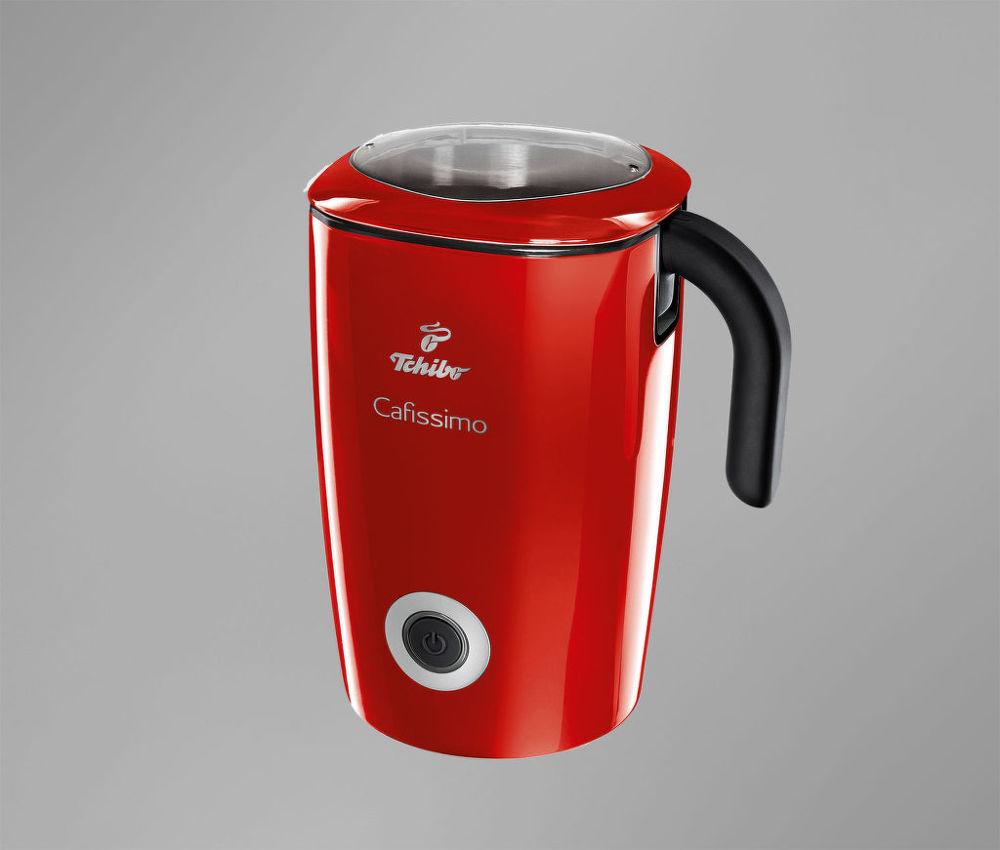 Tchibo Cafissimo Indukční napěňovač mléka červený