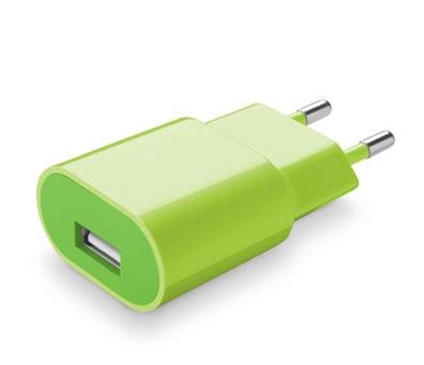 CellularLine Style&Color síťová USB nabíječka, 1A (zelená)