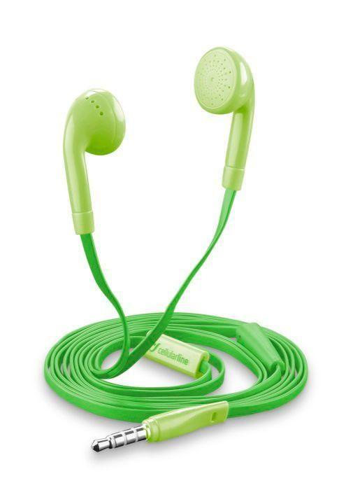 CellularLine Style&Color Butterfly (zelená) - sluchátka