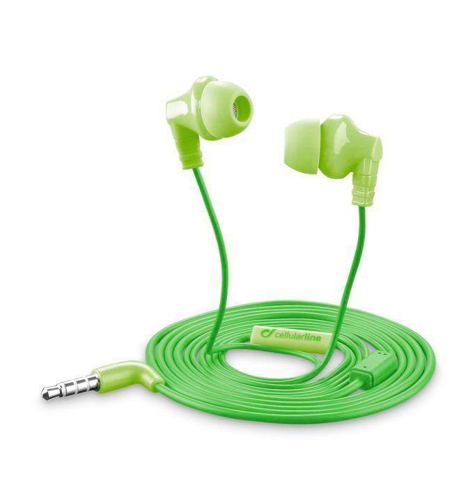 CellularLine Style&Color Cricket (zelená) - sluchátka